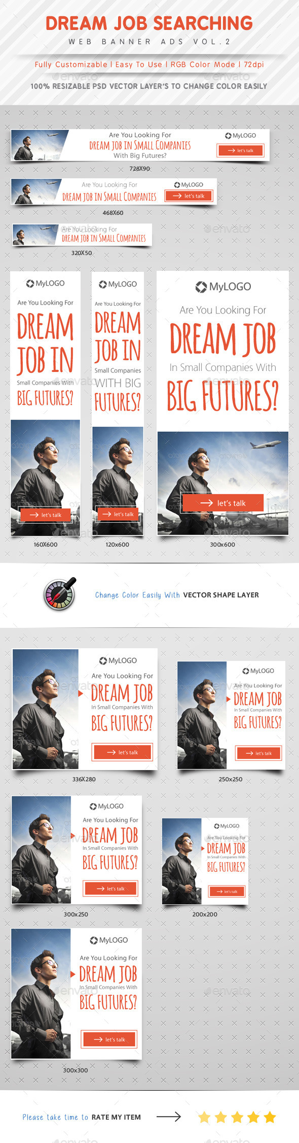 GraphicRiver Job Searching Web Banner Ads Vol.2 10312231