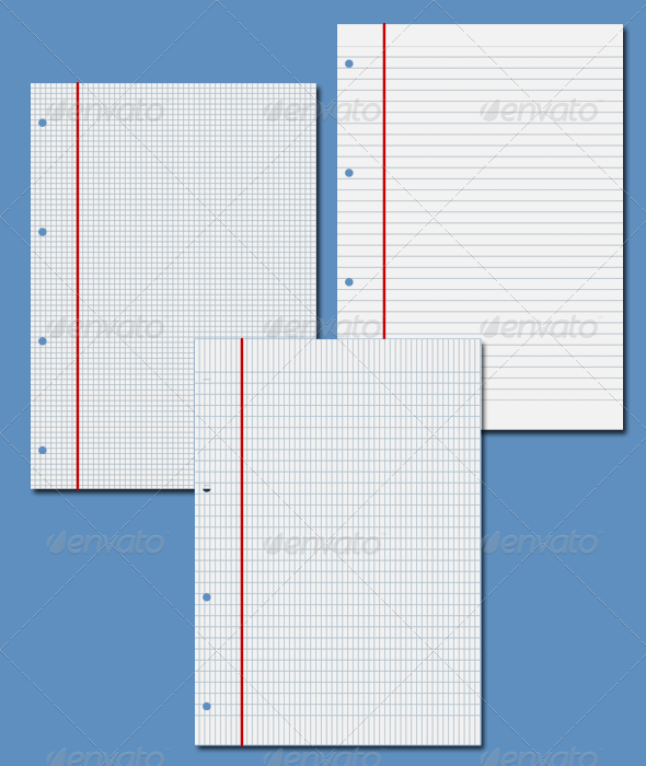 Graphic River NotePad Paper Graphics -  Backgrounds 1039168