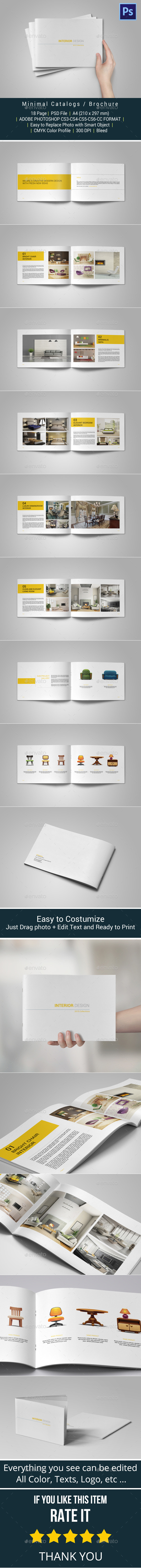 GraphicRiver Minimal Catalogs Brochure Portfolio 10313217