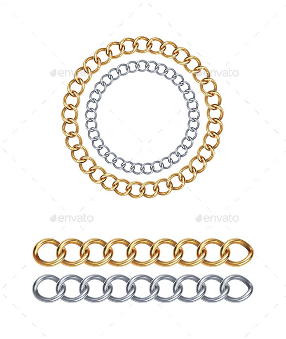 Silver and Gold Chain