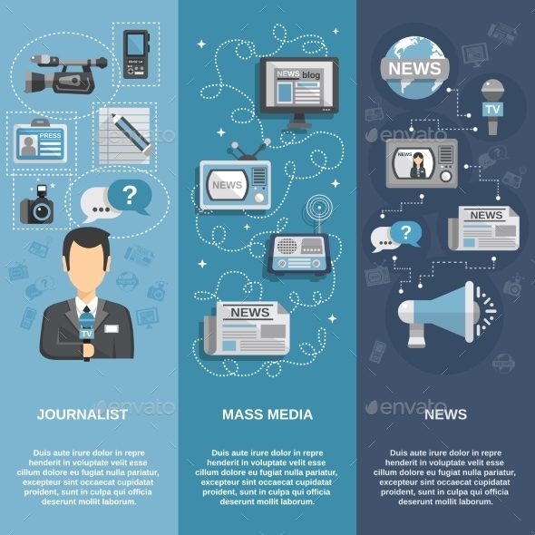GraphicRiver Journalist Banner Set 10313452