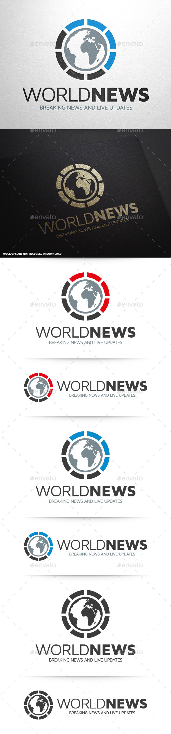 GraphicRiver World News Logo Template 10313780
