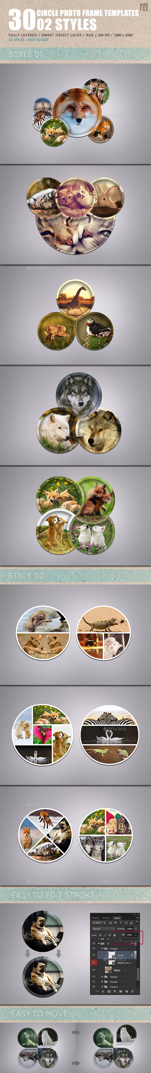 GraphicRiver 30 Circle Photo Frame Templates 02 Styles 10313792