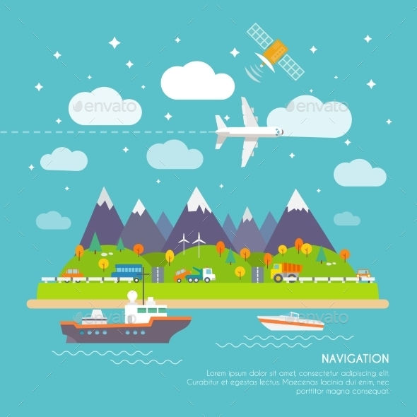 GraphicRiver Navigation Poster 10314018
