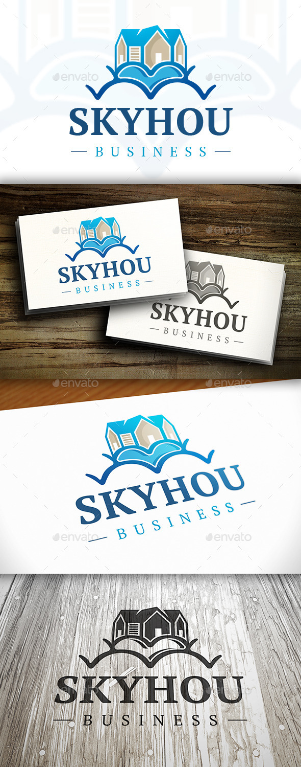 GraphicRiver Sky House Logo 10314141