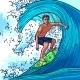 Surfer Man Background - GraphicRiver Item for Sale
