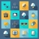 Network Icons Flat - GraphicRiver Item for Sale
