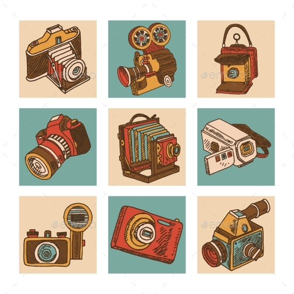 GraphicRiver Camera Icon Set 10314318