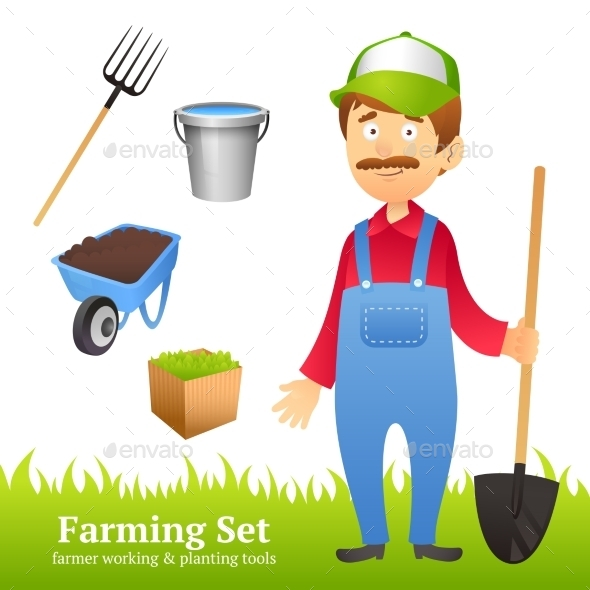 GraphicRiver Farmer Man Avatar 10314343