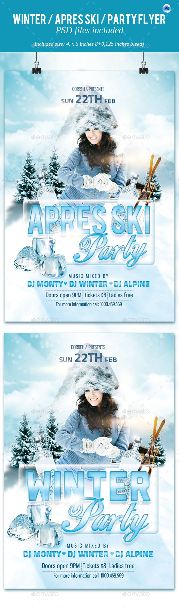 GraphicRiver Winter Apres Ski Party Flyer 10314551