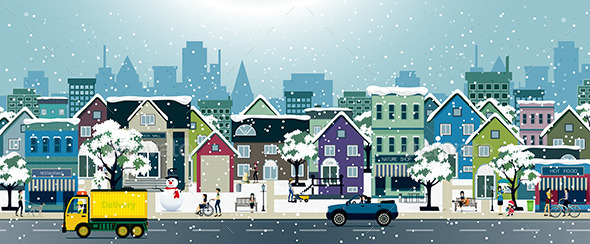 GraphicRiver Snow City 10314593