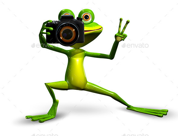 GraphicRiver Frog with a Camera 10314660