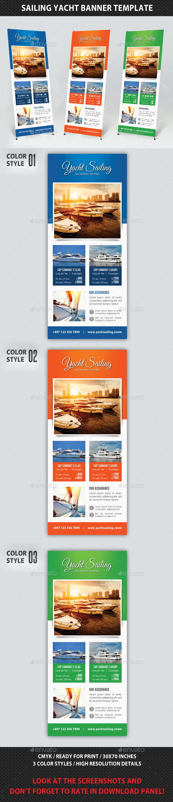 GraphicRiver Sailing Yacht Banner Template 03 10314725