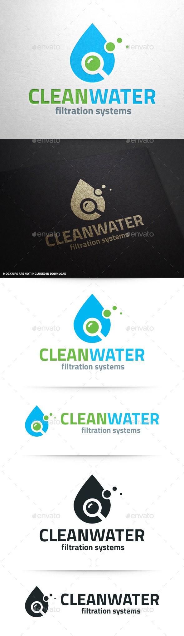GraphicRiver Clean Water Logo Template 10314873