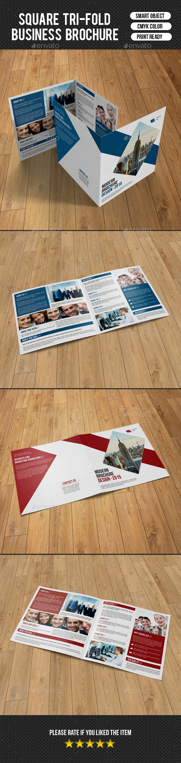 GraphicRiver Corporate Square Bifold Brochure-V12 10315195