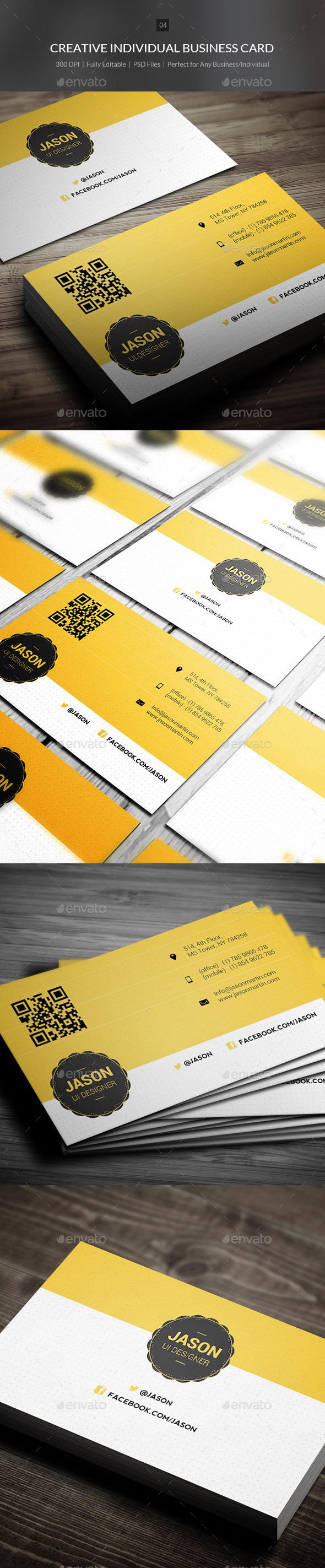 GraphicRiver Crearive Individual Business Card 04 10315311