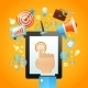 Hand With Tablet Device - GraphicRiver Item for Sale