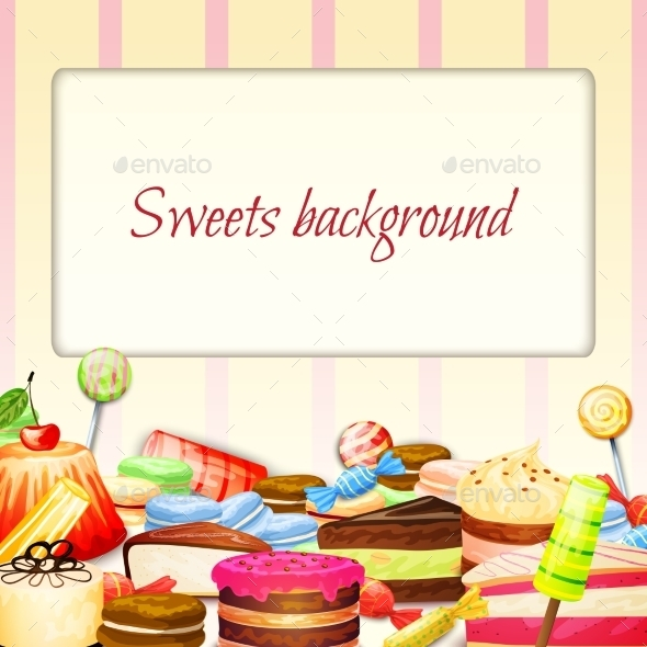 GraphicRiver Sweets Food Background 10315410
