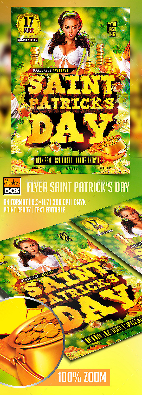 Flyer Saint Patricks Day