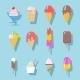 Ice Cream Icons Set - GraphicRiver Item for Sale