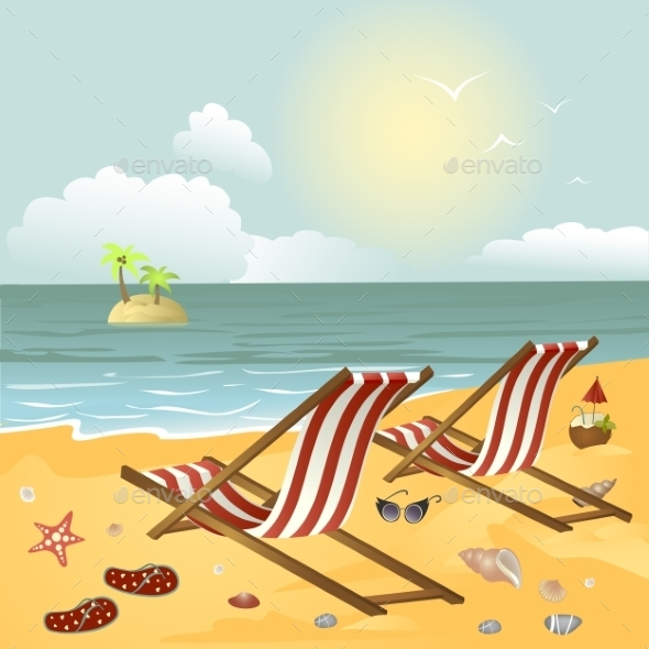GraphicRiver Two Chairs on the Beach 10315820