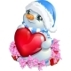 Snowman with Heart and Gifts - GraphicRiver Item for Sale