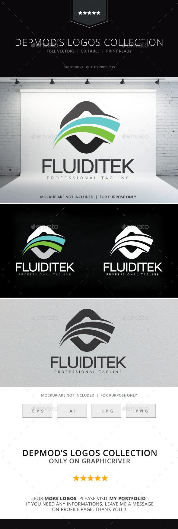 GraphicRiver Fluiditek Logo 10315997