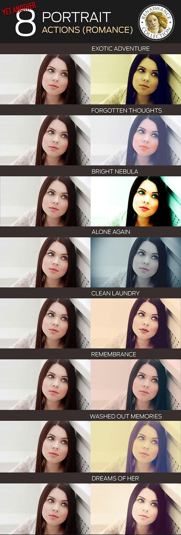 GraphicRiver 8 Renaissance Portrait Actions for Photoshop 10316774