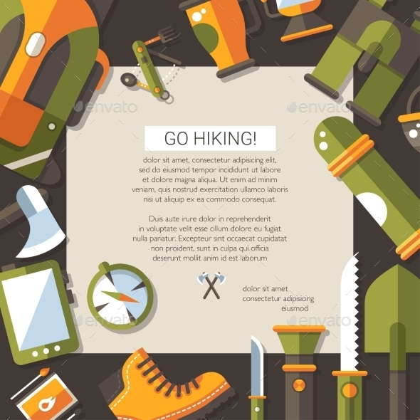 GraphicRiver Camping Illustration 10316791