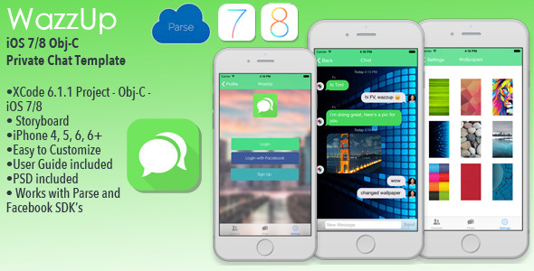 CodeCanyon WazzUp iOS Private Chat App Template Obj-C 10316908