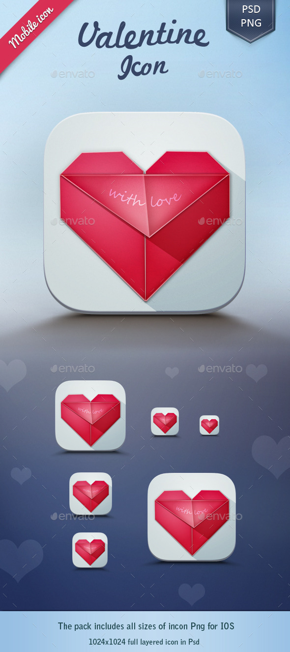 GraphicRiver Valentine App Icon 10316979