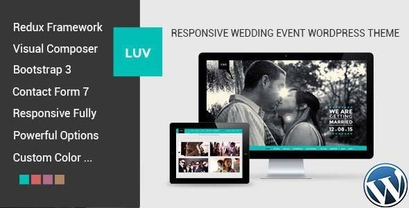 LUV - Responsive Wedding Event WordPress Theme Download
