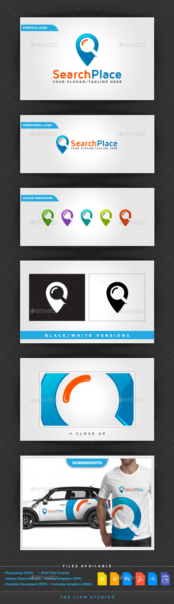 GraphicRiver Search Place Logo 10317084