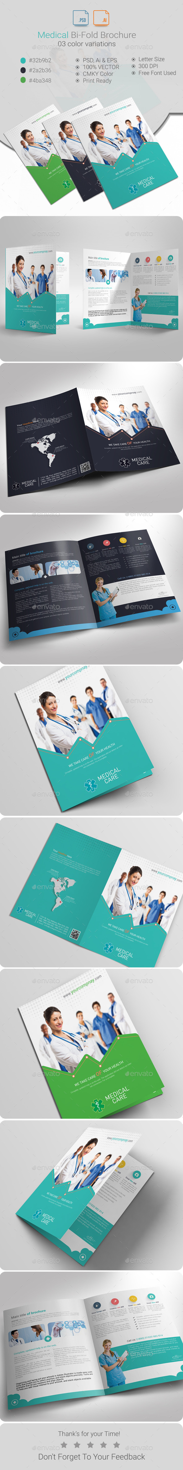 GraphicRiver Medical Bi-Fold Brochure 10317104