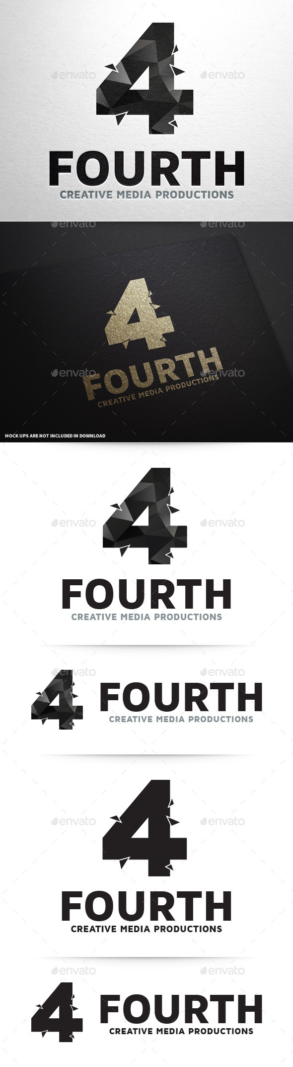 GraphicRiver Number Four Logo Template 10317165