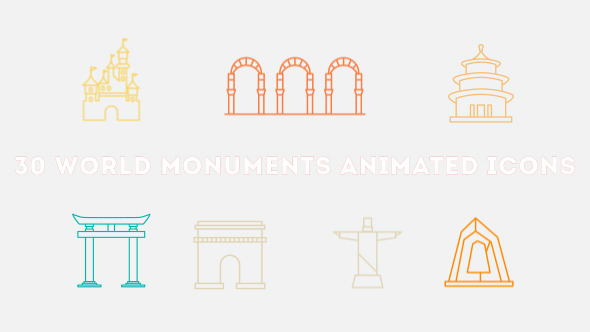 World Monuments Animated Icons Pack (Elements)