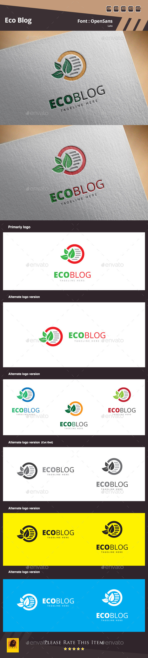 GraphicRiver Eco Blog Logo Template 10317275