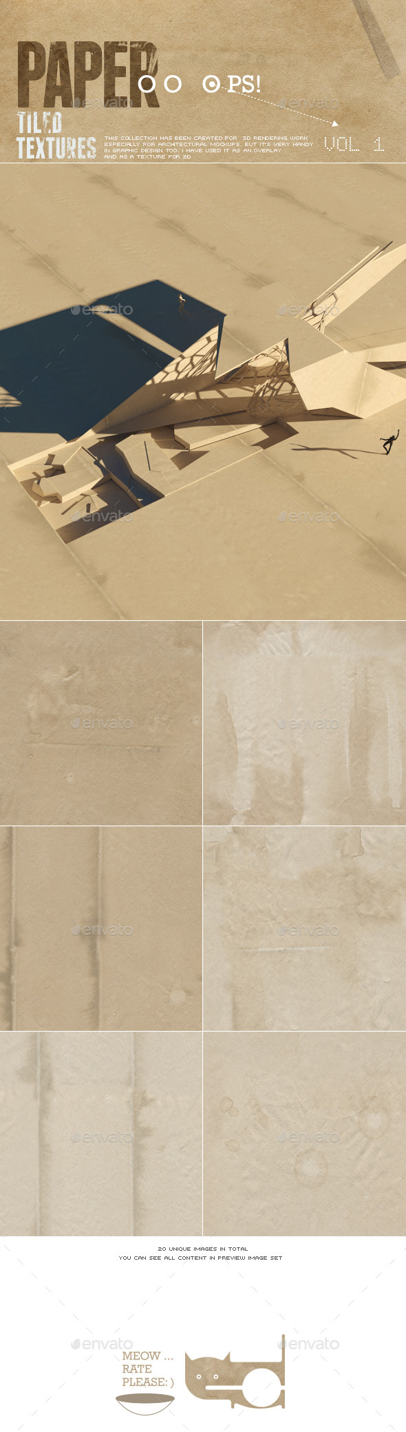 3DOcean Old Paper Tileable 10317440