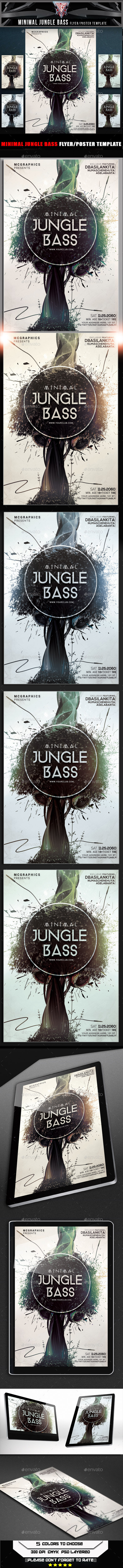 GraphicRiver Minimal Jungle Bass Flyer Template 10317842