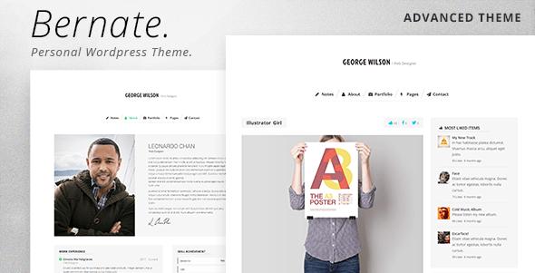 Bernate - Personal WordPress Theme Download