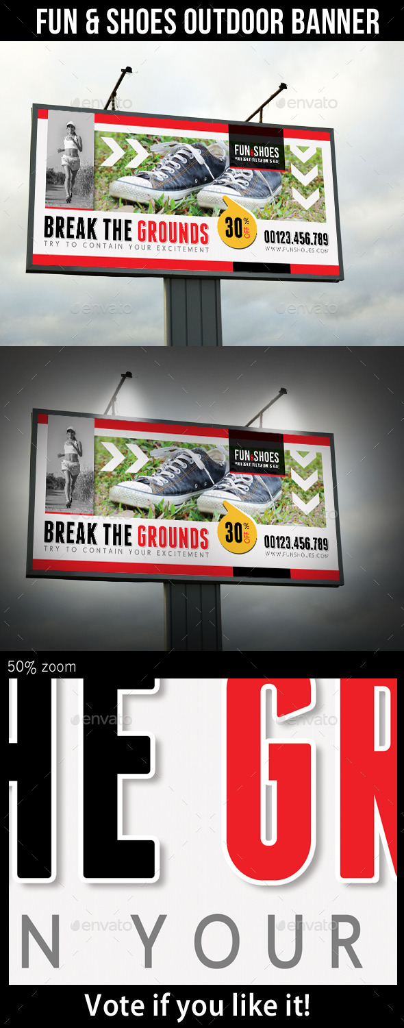 GraphicRiver Fun and Shoes Outdoor Banner 10317892