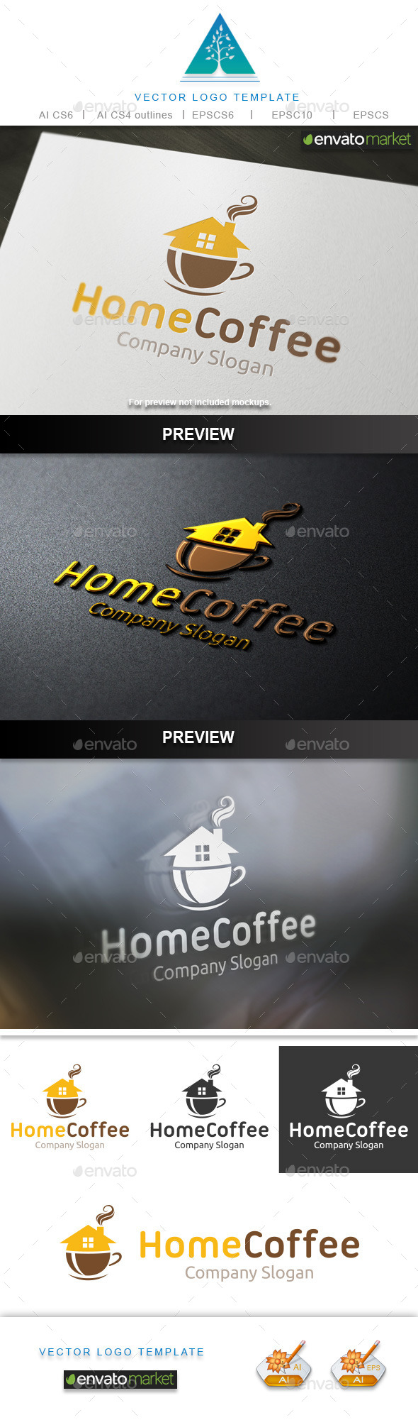 GraphicRiver Home Coffee Logo 10317970