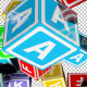 Falling Kids Alphabet Cubes  - VideoHive Item for Sale