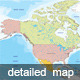 Detailed Map of North America - GraphicRiver Item for Sale