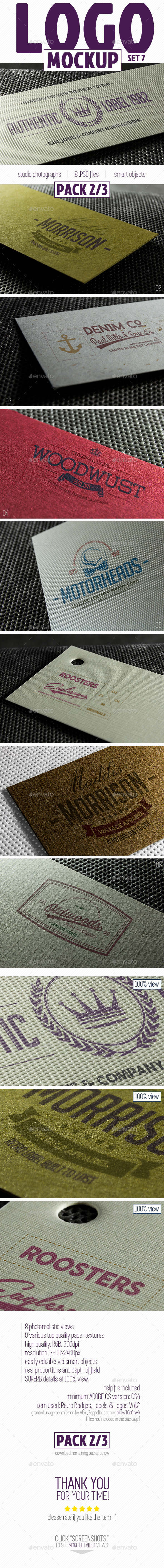 Complete Paper Logo Mock-Up pack 2 3