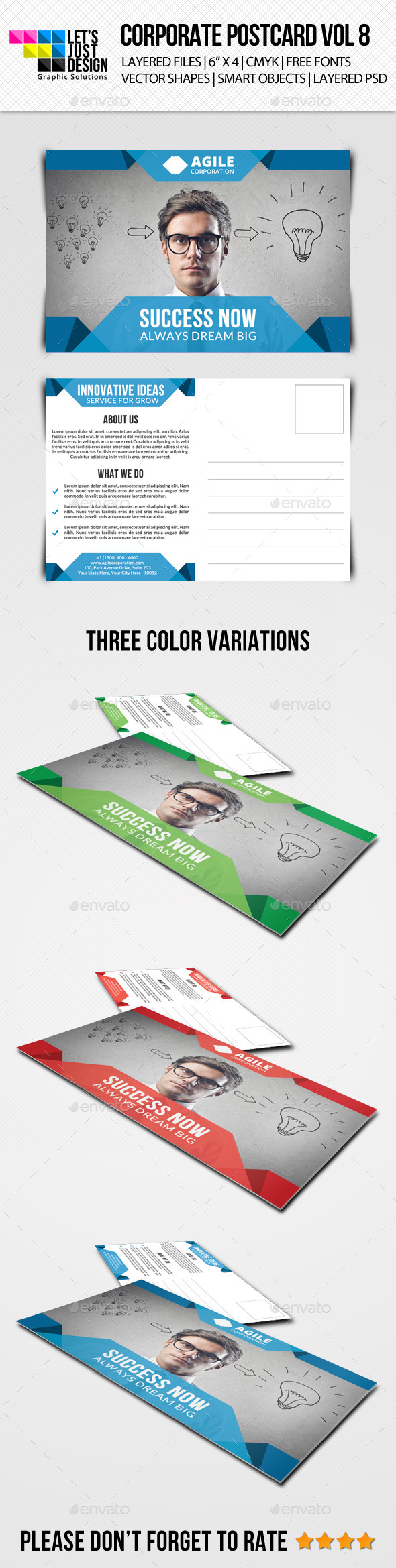GraphicRiver Corporate Postcard Template Vol 8 10318690