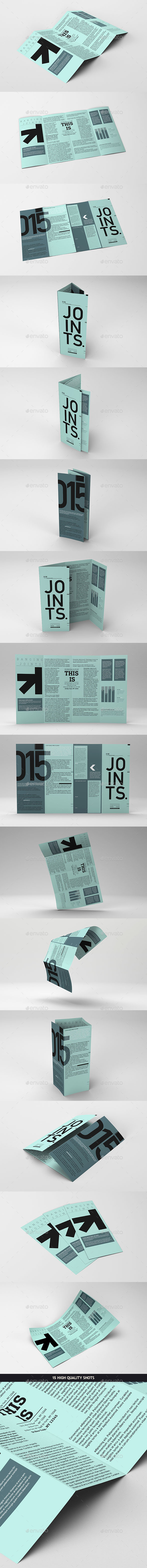 GraphicRiver Gate Fold Roll Brochure Mockup 10318693