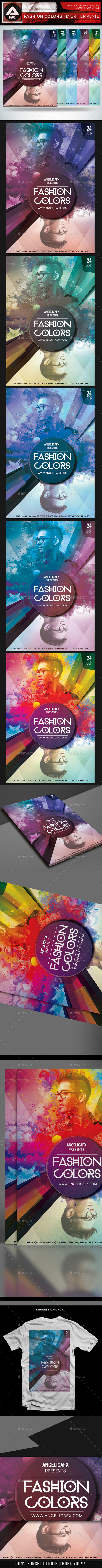 GraphicRiver Fashion Colors Flyer Template 10318707