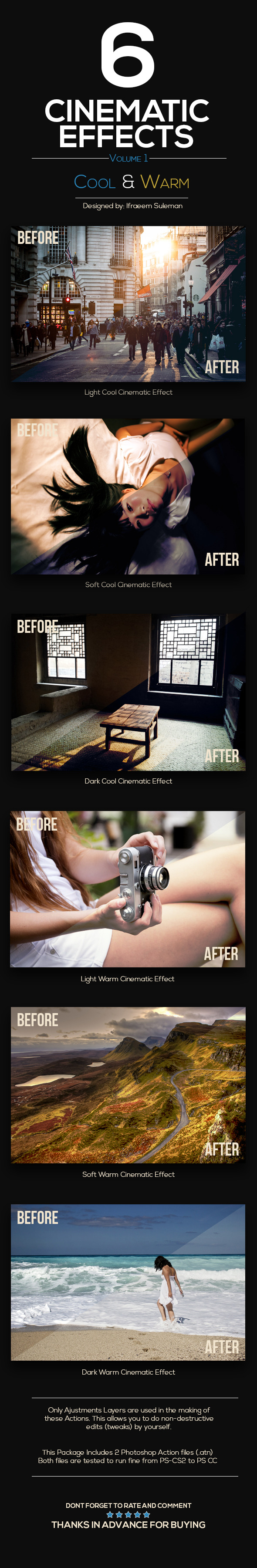 GraphicRiver 6 Cinematic Effects 10318805