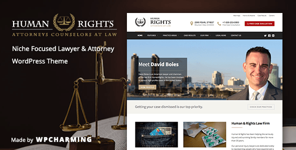 ThemeForest HumanRights Lawyer and Attorney WordPress Theme 10318808